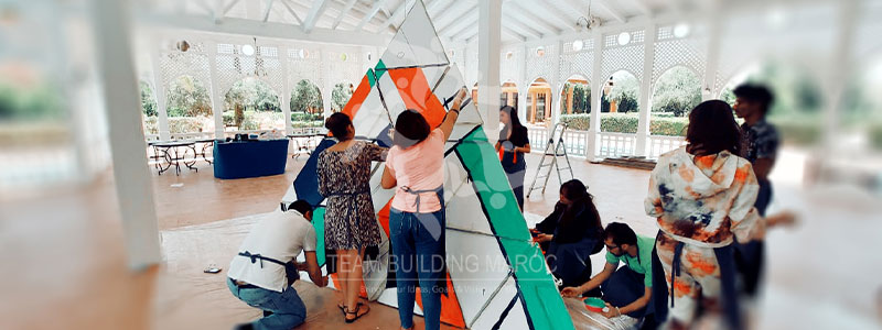 LE TEAM BUILDING LA PYRAMIDE GEANTE <br> MOHAMMED VI POLYTECHNIC UNIVERSITY