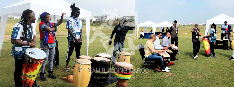 TEAM BUILDING PERCUSSION & DANSE AFRICAINE <br> TOTAL